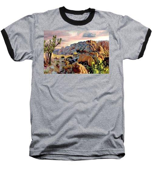 Twilight At Joshua Baseball T-Shirt by Ron Chambers