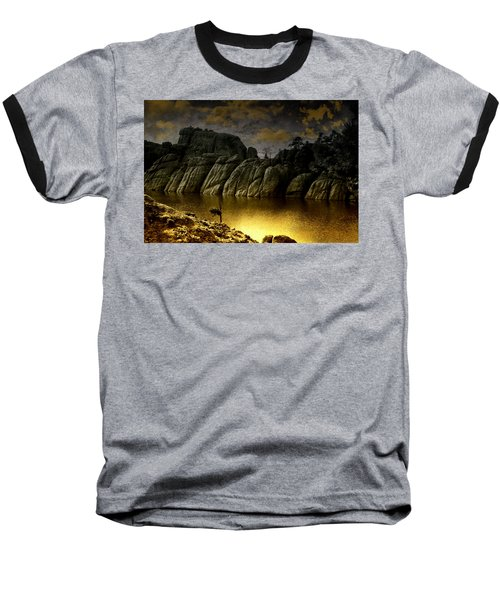 Twilight At The Lake Baseball T-Shirt