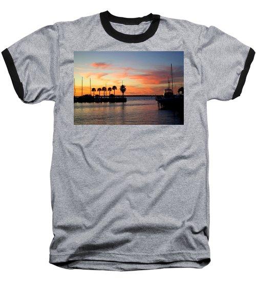 Twilight At The Marina Baseball T-Shirt