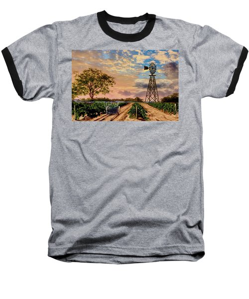 Twilight At The Vineyard Baseball T-Shirt