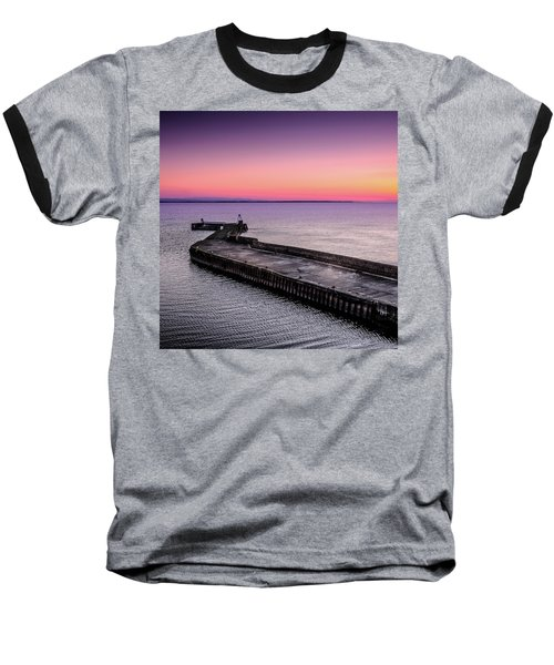 Twilight, Burghead Harbour Baseball T-Shirt
