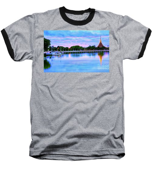 Twilight City Lake View Baseball T-Shirt