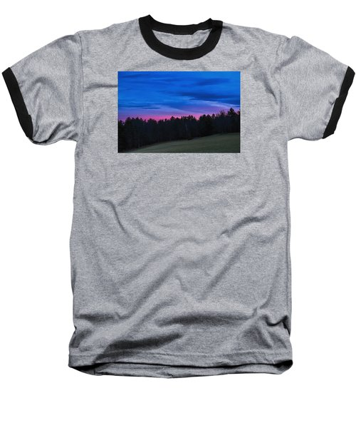Twilight Field Baseball T-Shirt by Tom Singleton