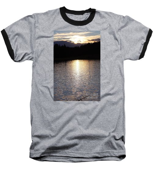 Twilight Glitter Pattern Light Show Baseball T-Shirt