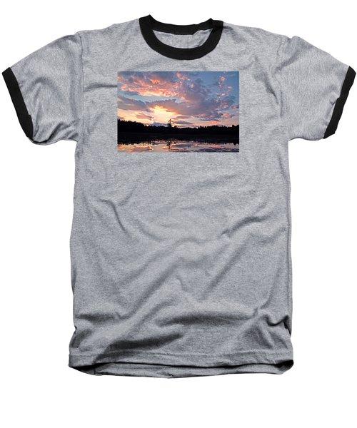 Twilight Glory Baseball T-Shirt by Lynda Lehmann