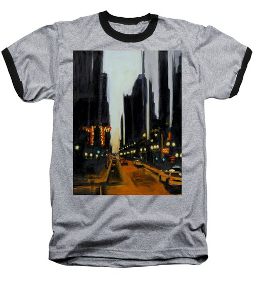 Twilight In Chicago Baseball T-Shirt