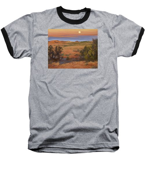 Twilight Moonrise, Valyermo Baseball T-Shirt by Jane Thorpe