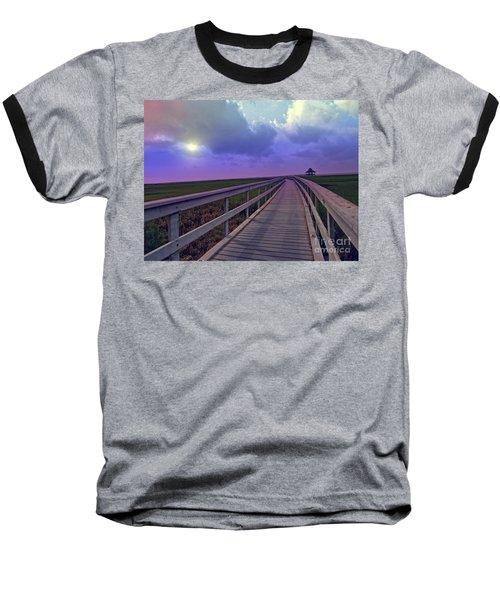 Twilight Nature Walk Baseball T-Shirt by Ella Kaye Dickey