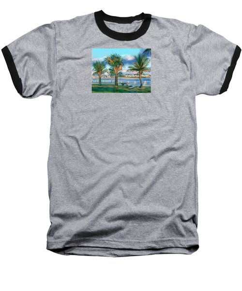Twilight On Saw Fish Bay Baseball T-Shirt