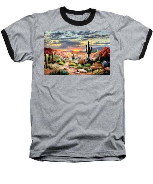 Twilight On The Desert Baseball T-Shirt
