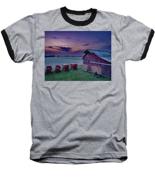 Twilight On The Farm Baseball T-Shirt