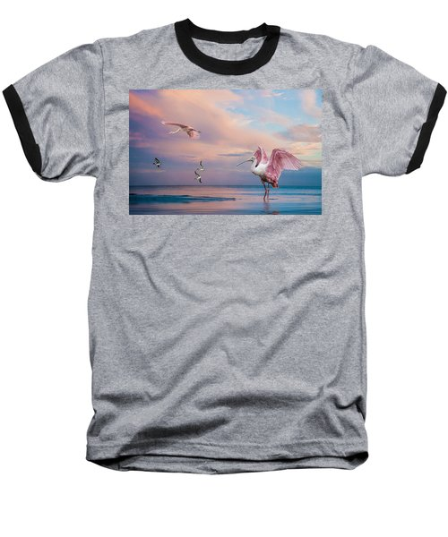Twilight On The Gulf Baseball T-Shirt