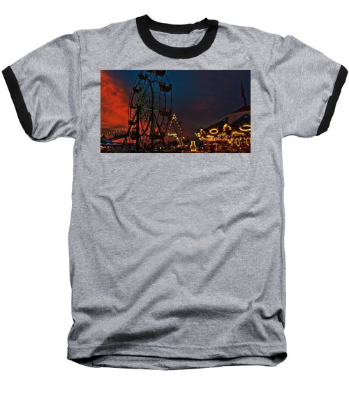 Twilight On The Midway  Baseball T-Shirt by John Harding