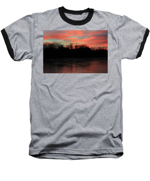 Baseball T-Shirt featuring the photograph Twilight On The River by Chris Berry