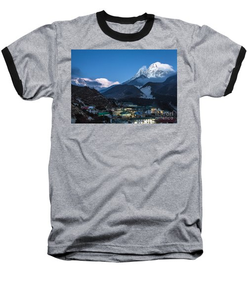 Twilight Over Pangboche In Nepal Baseball T-Shirt