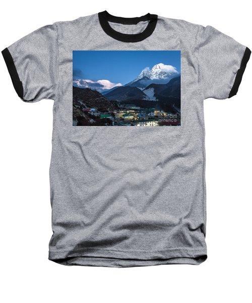Twilight Over Pangboche In Nepal Baseball T-Shirt