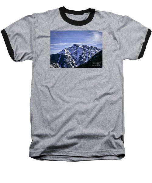 Twilight Peak Colorado Baseball T-Shirt by Janice Rae Pariza
