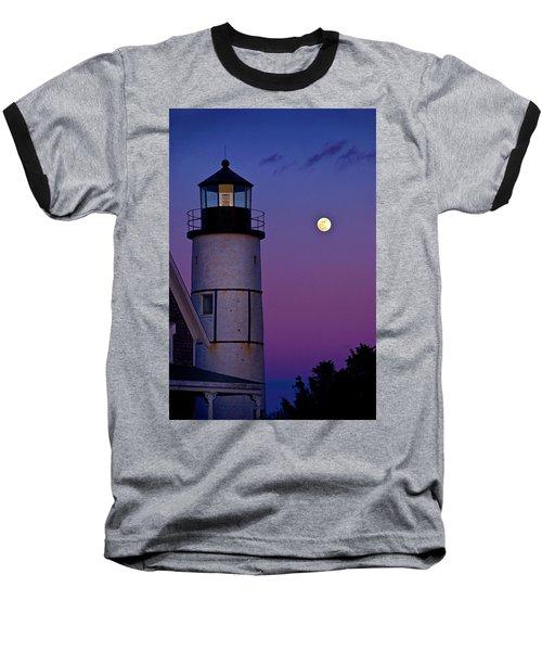 Twilight At Sandy Neck Lighthouse Baseball T-Shirt