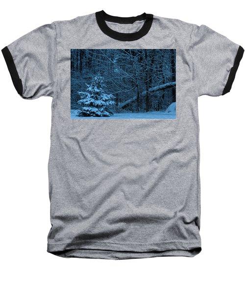 Twilight Snow Baseball T-Shirt by Trey Foerster