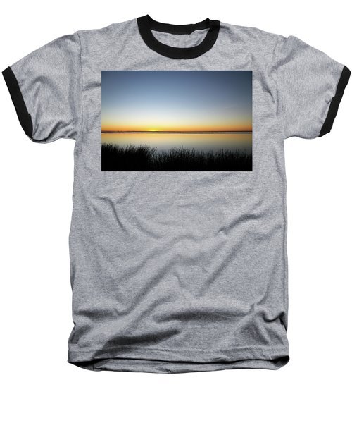 Twilight Stillness Down By The Beach Lagoon Baseball T-Shirt