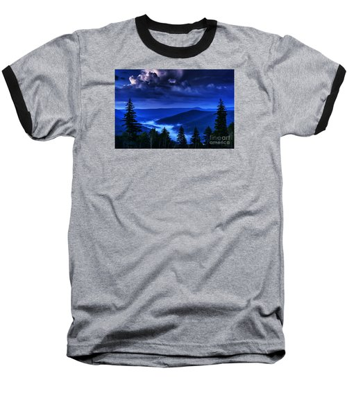 Twilight Thunderhead Baseball T-Shirt by Thomas R Fletcher