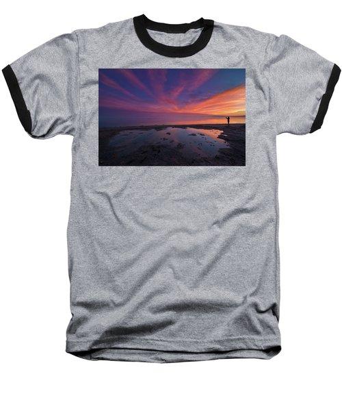 Twilight Time Baseball T-Shirt by Ralph Vazquez