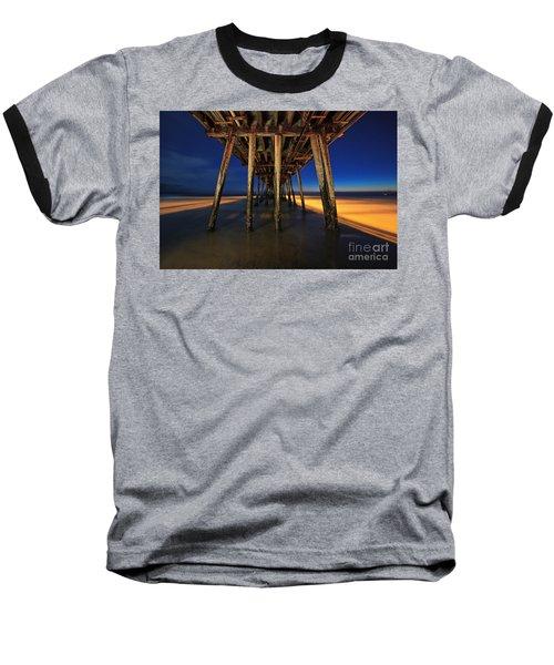 Twilight Under The Imperial Beach Pier San Diego California Baseball T-Shirt