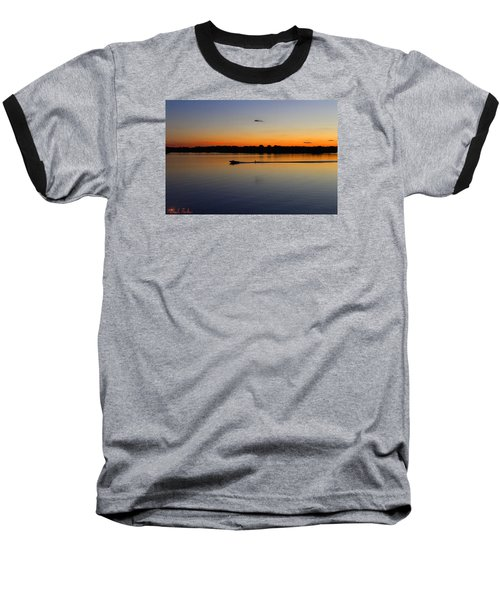 Baseball T-Shirt featuring the photograph Twilight Water Skiing by Michael Rucker