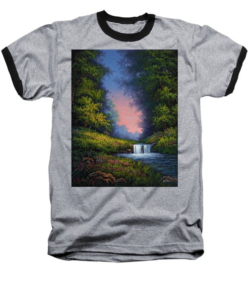 Baseball T-Shirt featuring the painting Twilight Whisper by Kyle Wood