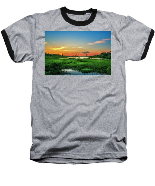 Baseball T-Shirt featuring the photograph Twilights Arrival by Marvin Spates