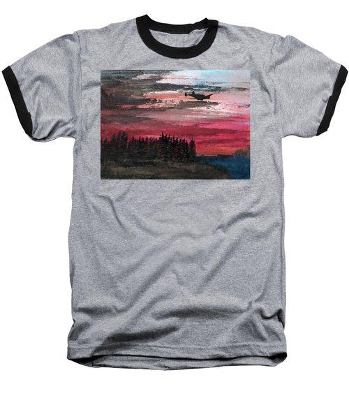 Twin Beech Late Baseball T-Shirt by R Kyllo