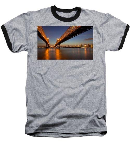Baseball T-Shirt featuring the photograph Twin Bridges by Evgeny Vasenev