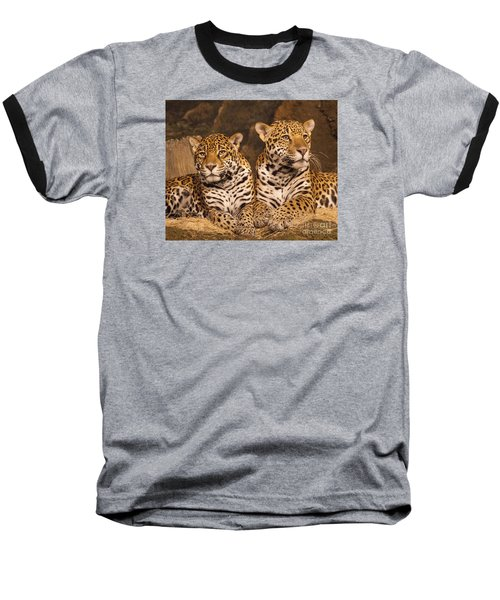 Twin Cheetahs Baseball T-Shirt