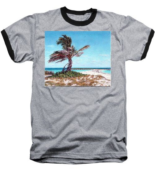 Twin Cove Palm Baseball T-Shirt