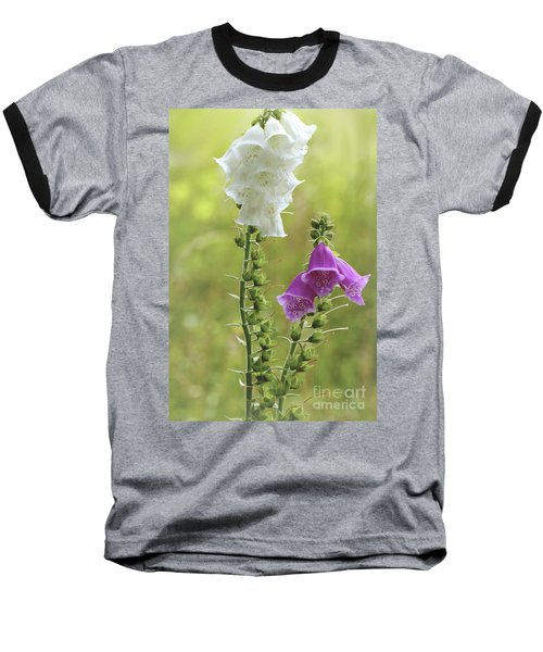 Twin Foxgloves Baseball T-Shirt