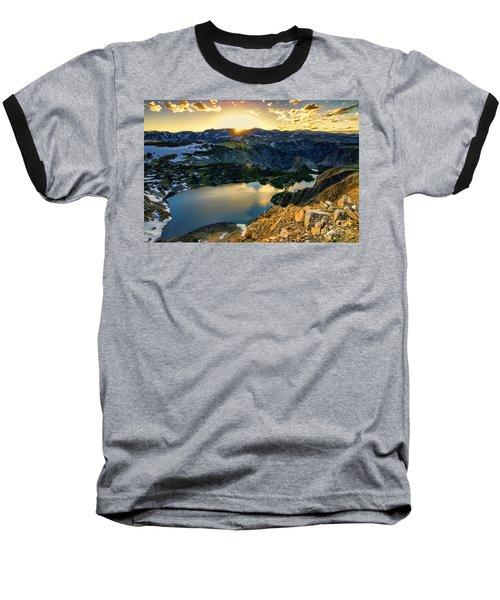 Twin Lakes Sunset Baseball T-Shirt