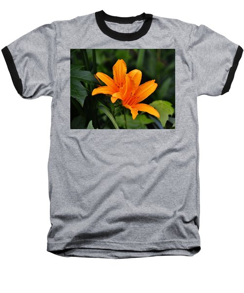 Twin Lillies Baseball T-Shirt