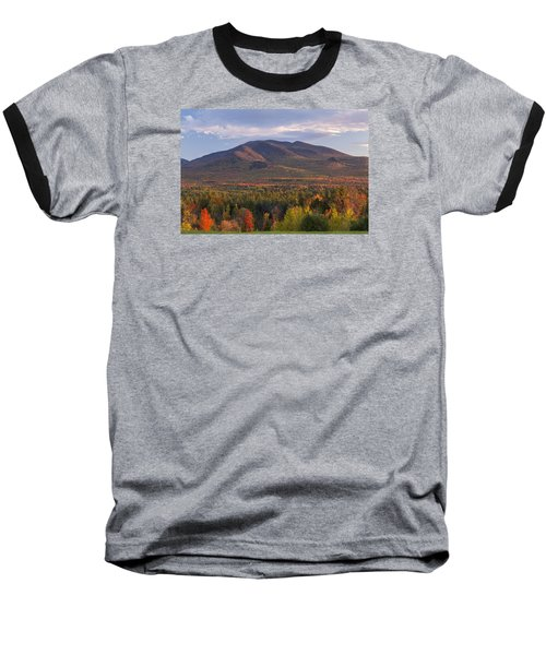 Twin Mountain Autumn Sunset Baseball T-Shirt