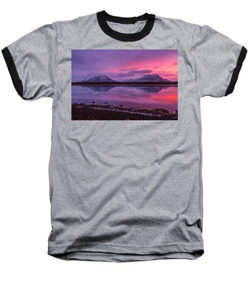 Twin Mountain Sunrise Baseball T-Shirt