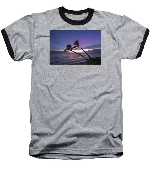 Twin Palms  Baseball T-Shirt by James Roemmling