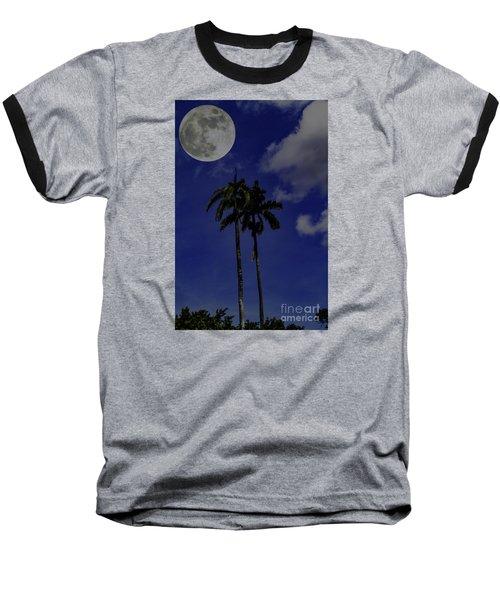 Baseball T-Shirt featuring the photograph Twin Palms by Ken Frischkorn