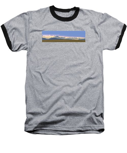 Twin Peaks Panorama View From The Agriculture Plains Baseball T-Shirt