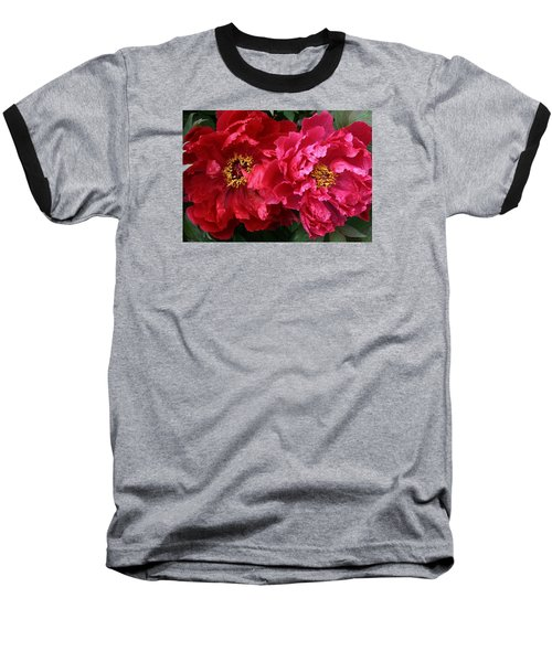 Twin Peonies Baseball T-Shirt