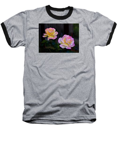 Twin Roses Baseball T-Shirt