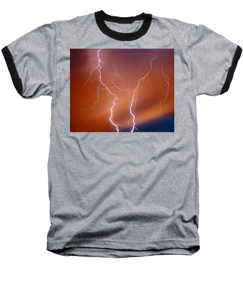 Twin Strike Baseball T-Shirt by Anthony Jones