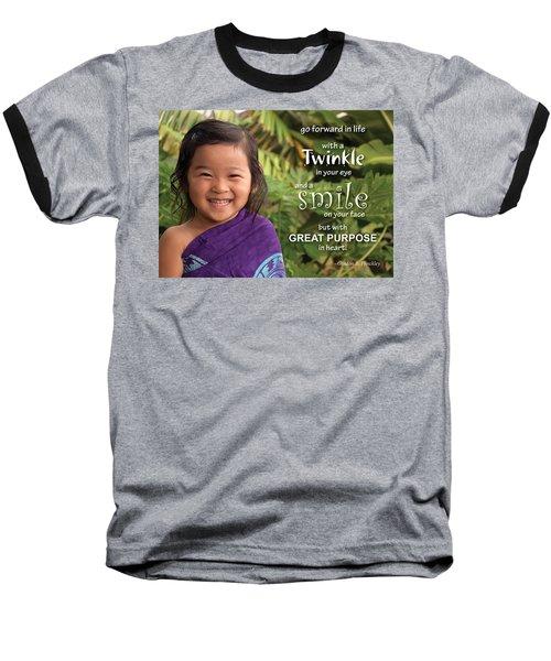 Twinkle Smile Baseball T-Shirt