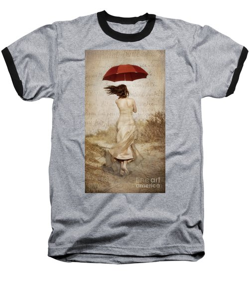 Twirling Painted Lady Baseball T-Shirt