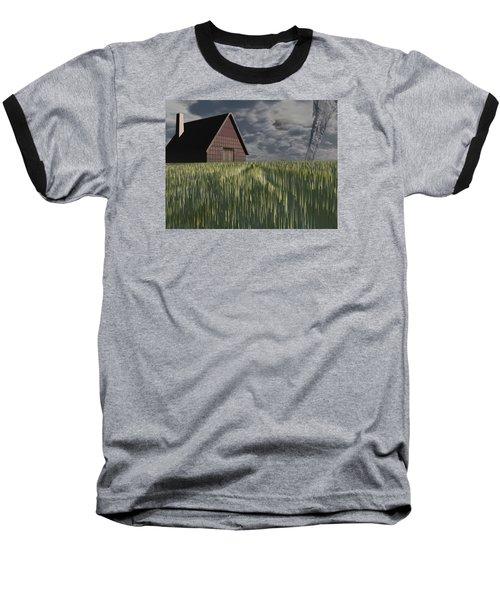Twister Baseball T-Shirt by Michele Wilson