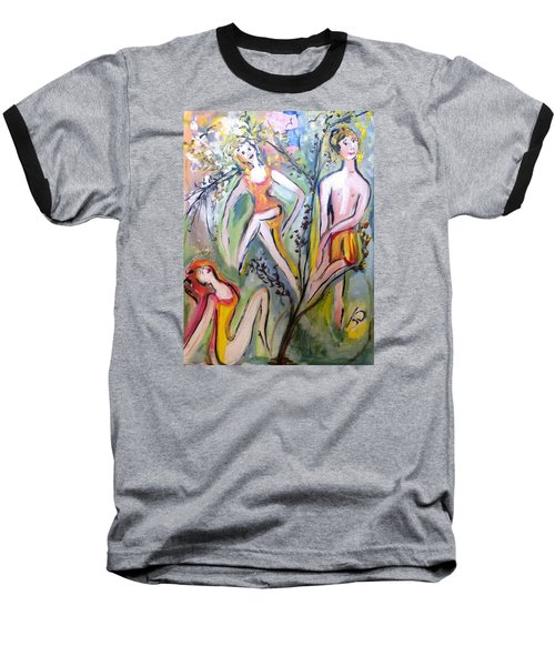 Twists And Turns Baseball T-Shirt by Judith Desrosiers