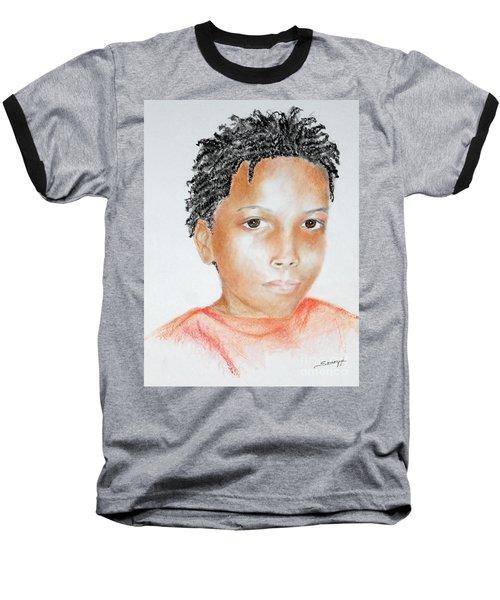 Twists, At 9 -- Portrait Of African-american Boy Baseball T-Shirt